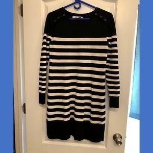 Loft Petite Striped Sweater Dress